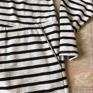 Merona long sleeve striped dress